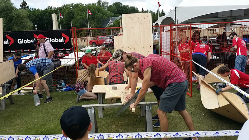 Regina Canada Day Plywood Cup